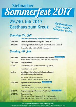 Auf geht´s zum Siebnacher Sommerfest 2017!
