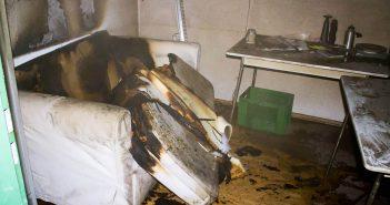 Zimmerbrand Asylbewerberunterkunft